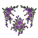 EMOHKCEB Parches 3D Flores Bordadas Coser En Parche para Ropa Chaqueta Apliques DIY Accesorio, Nuevo púrpura
