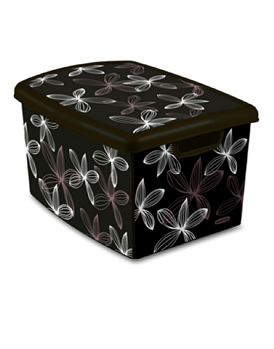 Curver Caja Deco 20 L Black Lilly