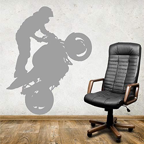 Zaosan Extremsport Motorradfahrer stehend Vinyl Aufkleber Kunst Wandtattoo Dekoration Wohnzimmer Tapete