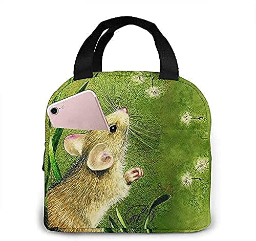 Lunch Bag Cute Little Mouse Lunch Box Insulated Bag Tote Bag For Men/Women Work Travel