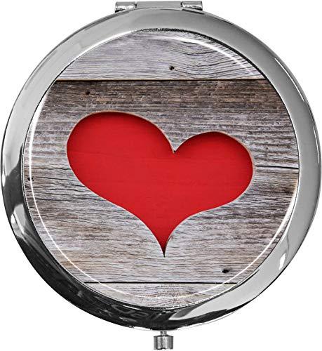Miroir de poche/Coeur/Double agrandissement