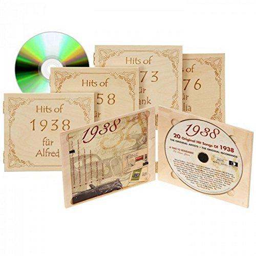 Jahrgangs-Musik-CD von jedem Jahr 1929-1995 inklusive Wunschgravur