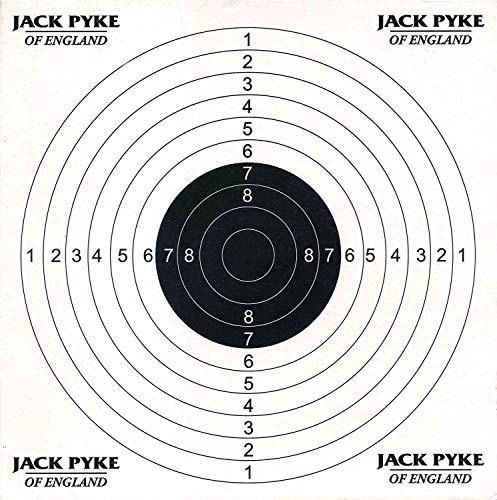 Jack Pyke - Dianas de Tiro de 14 x 14cm - Papel - Pack de 100