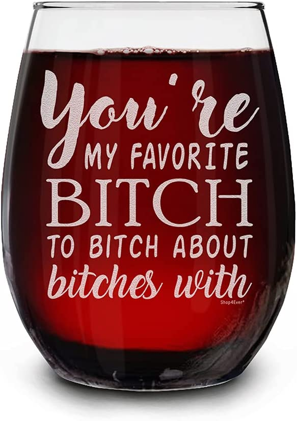 Shop4Ever You're My Favorite B Glas Engraved Wine Sale item Shipping included Stemless Laser