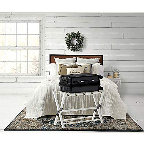 Bee & Willow Home Luggage Rack in White Wash