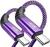 Cavo USB C 2 pezzi 1m, Cavo USB tipo C di ricarica in nylon tipo C, per Samsung Galaxy S10 S9 S8 Plus, Note10,...