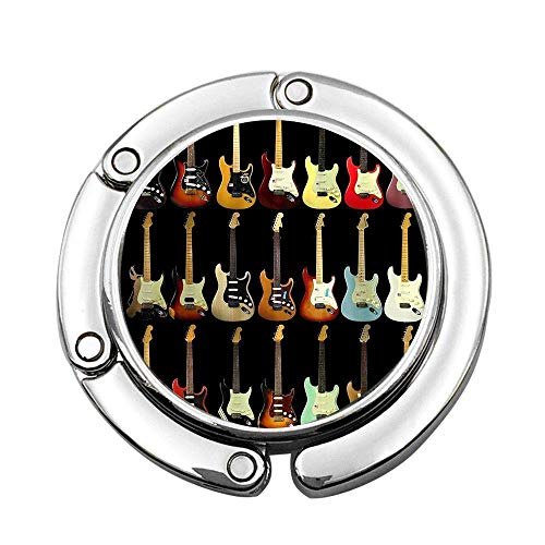Guitarra Música Personalizada Monedero Gancho Colgador de Bolso Plegable Colgador de Mesa Plegable