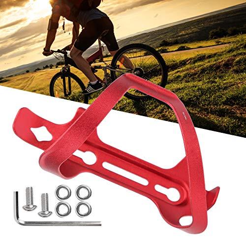 Archuu Soporte para Botella de Agua, aleación de Aluminio Soporte para Jaula para Botella de Agua para Bicicleta, Resistente, Duradero y fácil de Limpiar para Todo Tipo de Bicicletas Universal(Red)