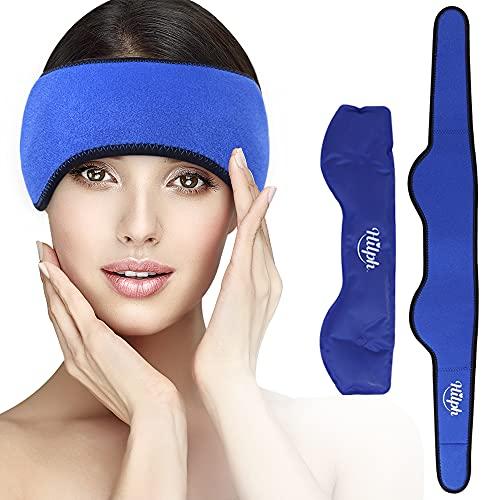 Hilph®Migräne Kühlkissen Gel Kühlpads Ice Pack für Kopfschmerzen und Migräne Linderung, Kopf Eisbeutel Coolpacks Heiße Kälte Therapie für Sinuslinderung, Spannungs Kopfschmerzen