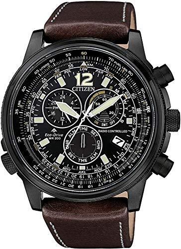 Citizen Radio Controlled Quartz Uhr, ECO Drive, 43,8mm, Schwarz, CB5865-15E