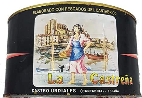 Anchoa del Cantábrico en salazón La Castreña peso neto 1.1 kg. escurrido 820 g.