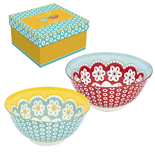 Easy Life 425DAIS Design + Art Cofanetto 2 ciotole, diametro 15 cm, in ceramica, multicolore