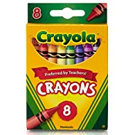 Crayola Crayons, School Supplies, Classic Colors, 8 Count