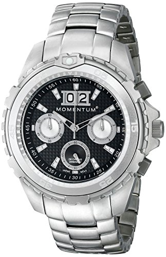 Momentum heren chronograaf kwarts horloge met roestvrij stalen armband 1M-DV26B0