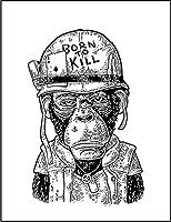 【FOX REPUBLIC】【チンパンジーの兵士】 白マット紙(フレーム無し)A4サイズ