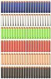 Recharge 120 Dards colorés pour Nerf N-Strike Elite - 7,2 cm, 6 couleurs / 20 pièces de chaque couleur.