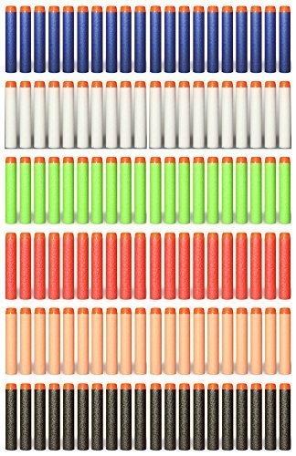 Yosoo® Ladekabel 120bunte Dart für Nerf N-Strike Elite–7,2cm, 6Farben/20Stück von jeder Farbe