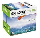 EXPLORER - Papel blanco multiusos para impresora - A4 100gr - 5 paquetes - 2500 folios