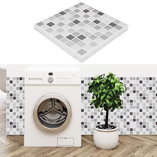 KAKAKE Papel Pintado Autoadhesivo estéreo 3D, fácil de Limpiar, 10 Piezas, Adhesivo de Pared 3D para Cocina, baño, Dormitorio, lavadero, Estufa