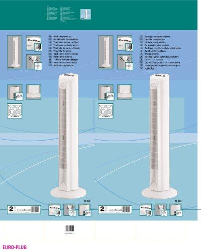 Duracraft DO1000E Ventilatore Oscillante, 50 W, 80 cm, Argento