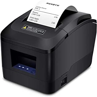 [Actualización 2.0] MUNBYN Impresora Térmica de Ticket Tikitera de Recibo 200 mm/s Cajón de Efectivo Auto-Cut, USB de Alta Velocidad, ESC/POS Set-EU Negro