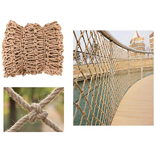 ZHANGYUQI Garden Railing Stairs Kids Anti-Fall Net, Net  Outdoor Scaffolding Netting Climbing Nets Kids Net Bar Cafe Bookstore Industrial Wind Punk Decoration 10mm/12cm Multiple Sizes