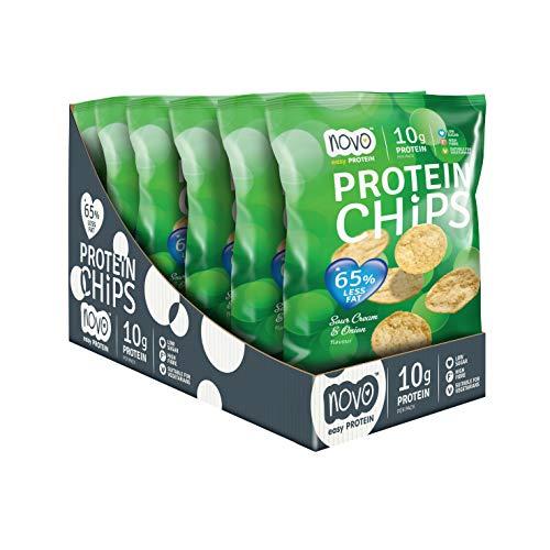 Novo Nutrition Protein Chips Sour Cream & Onion (Box of 6 x 30g)