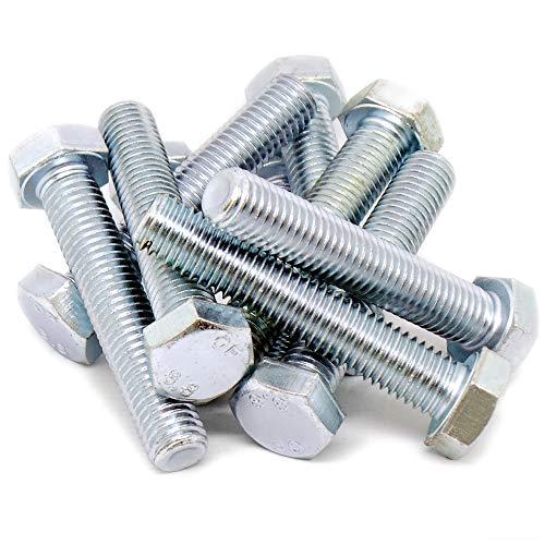 Tornillos hexagonales M12 (12 mm x 65 mm) (rosca completa) – acero (Pack de 10)