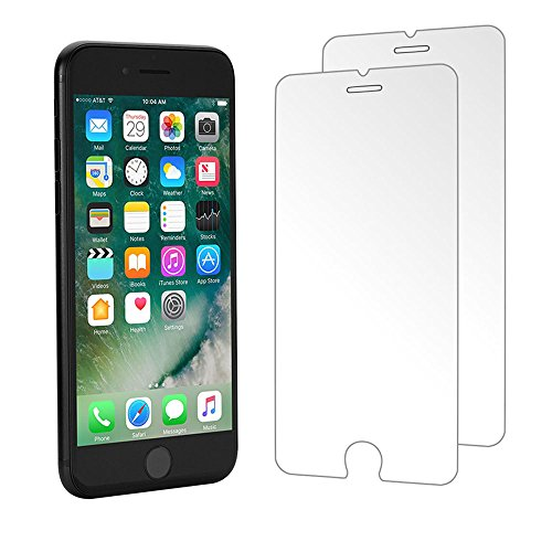 iPhone 8 Plus / iPhone 7 Plus Screen Protector, Foho [2-Pack] Premium Tempered Glass Screen Protector for Apple iPhone 8 Plus / 7 Plus [5.5 inch] - 3D Touch Compatible
