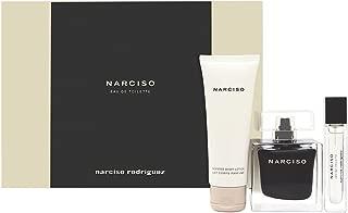 Narciso by Narciso Rodriguez for Her 3 Piece Set Includes: 3 Piece Set Includes: 3.0 oz Eau de Toilette Spray + 0.33 oz Eau de Toilette Purse Spray + 2.5 oz Body Lotion