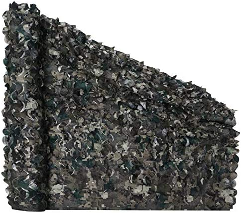 Auscamotek Camo Netting Camouflage Net for Deer Blind Material Soft Quiet Digital Black 5x10Ft product image