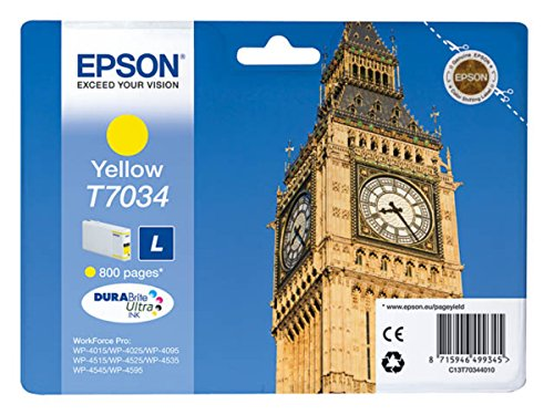 Epson WorkForce Pro WP-4535 DWF (T7034 / C 13 T 70344010) - original - Ink cartridge yellow - 800 Pages - 10ml