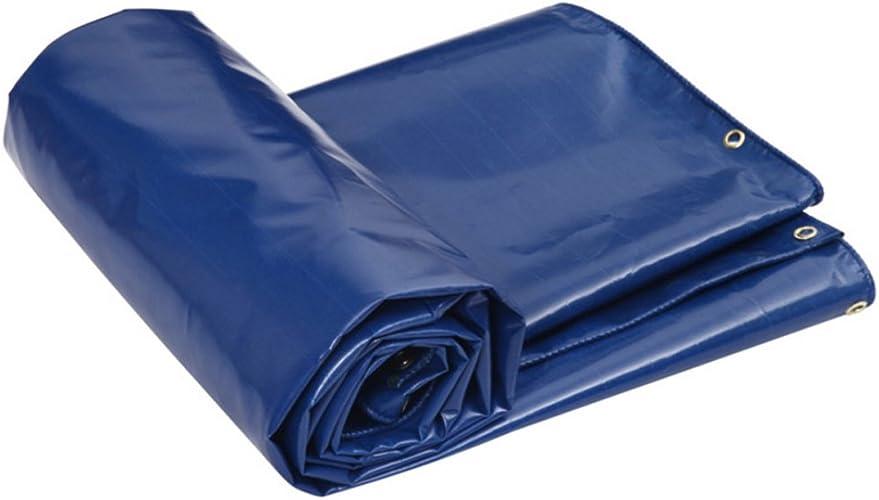 GLJ Bache Imperméable à l'eau Solaire Parasol Parasol Tissu Imperméable à l'eau Tissu Voiture Toile Bache Camion Personnalisé bache (Couleur   Bleu, Taille   3  4m)