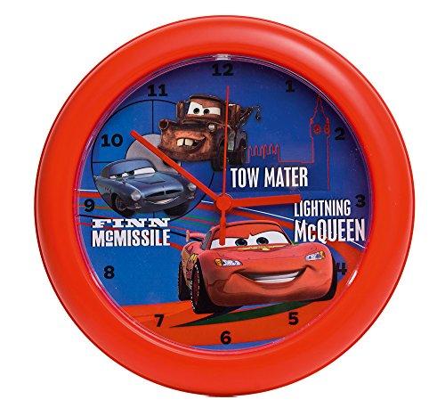 Cars Jungen Wanduhr Kunststoff Rot 21593