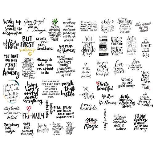 1 PCS Schwarz Chat Wörter Small Talk Bless Saying Ästhetische DIY Bullet Journal Aufkleber Scrapbooking Briefpapier Schule Kunstbedarf