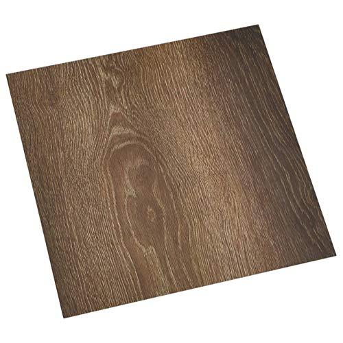 vidaXL 55x PVC-Fliesen Selbstklebend Vinyl-Fliesen Bodenbelag Vinylboden Laminat Dielen Fußboden Laminatboden Fliese Wohnzimmer 5,11m² Braun
