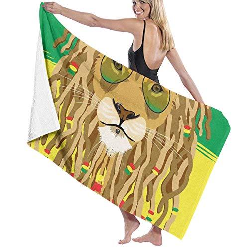 Rastafaris Rasta Lion Toalla de Playa de Microfibra para Adultos Grande 31x51 Pulgadas de Secado rápido ecológico Uso Multiusos