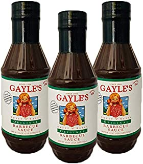 Gayle's Sweet 'N' Sassy Barbecue Sauce, Original BBQ, 18 Ounces, Pack of 3