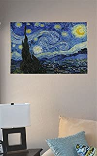 JS Artworks Van Gogh Starry Night Painting Vinyl Wall Art Decal Sticker