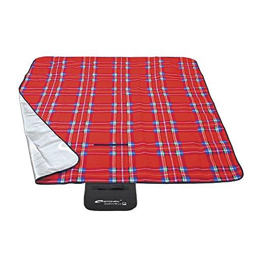 Spokey® Picknickdecke Stranddecke für eine schöne Landpartie kariert und bunt, Picknick Varianten:TARTAN PICNIC - 85043 – plus UP® Aufkleber
