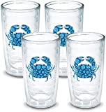 TERVIS Tumbler, 16-Ounce, 'Blue Crab', 4-Pack , Clear - 1124759
