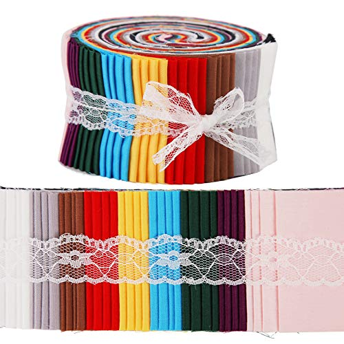 Roll Up Cotton Fabric Quilting Strips, Fabric Jelly Rolls, Cotton Craft Fabric Bundle, Patchwork Craft Cotton Quilting Fabric, Cotton Fabric