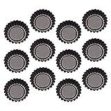 HEMOTON 12 Piezas Tartas Magdalenas Cupcake Y Moldes para Acero Al Carbono Antiadherente Reutilizable para Hornear Taza- Molde para Tartas de Huevo con Forma de Flor