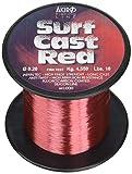 Akiro Surf Cast, Filo da Pesca Unisex – Adulto, Rosso, 0.28 mm