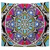 YYRAIN Impresión Nórdica Color Mandala Patrón Tapiz Hogar Arte De La Pared Decoración Tela Banquete Fondo Tela Multifuncional Toalla De Playa 59x79 Inc[150x200cm]