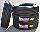 Set of 4 (FOUR) Transeagle ST Radial All Steel Premium Trailer Tires-ST235/80R16 130/126L LRH 16-Ply