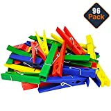 Momentum Brands STEM Supplies for Classroom Elementary Kids ~ 96 Colorful Plastic Clothespins for STEM Building Toys and STEM Engineering and Construction Design Challenges (STEM Basics Materials)