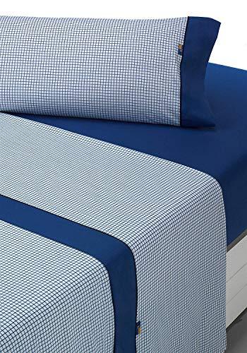 SABANALIA - Juego de sábanas Estampadas Combo (Disponible en Varios tamaños y Colores), Cama 135, Azul