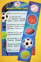 Bunk Junk Sports Fold Over Stationery Set for Camp and Vacation