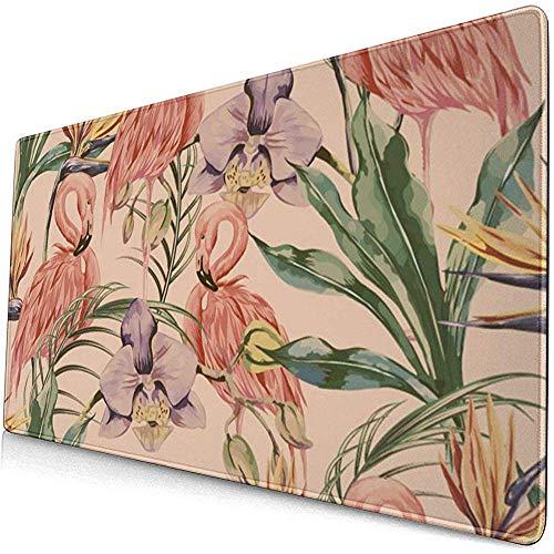 Exotische botanische behang vintage Boho stijl muismat muismat muismat anti-slip rubber duurzaam